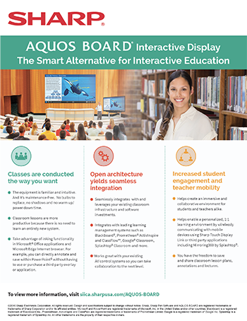 AQUOS BOARD Interactive Display: The Smart Alternative for Interactive Education