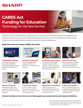 CARES Act Funding for Education