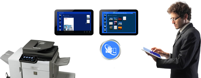 Sharpdesk Mobile Windows Illustration