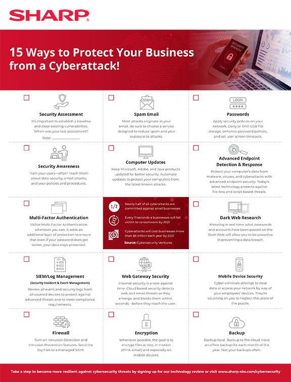 15 Ways to Protect Your Business From a Cyberattack PDF