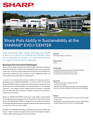 YANMAR EVO//CENTER Case Study