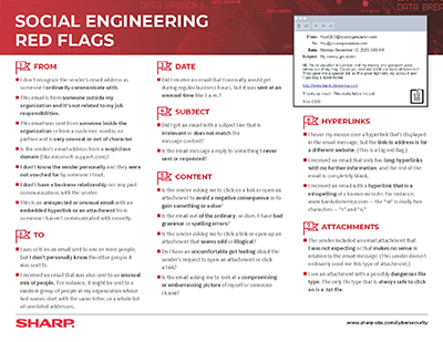 Social Engineering Red Flags PDF