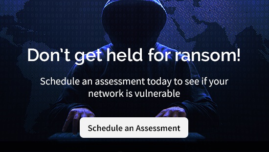 Don't get held for ransom! Schedule a network security assessment today