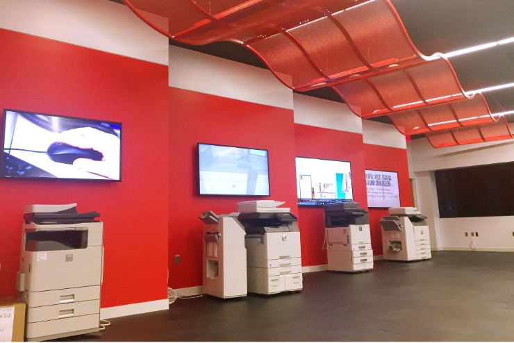 Image of Copier showroom in Sharp Office in Montvale