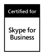 Skype for business certified logo
