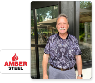photo of Merv Redman, Co-Owner of Amber Steel